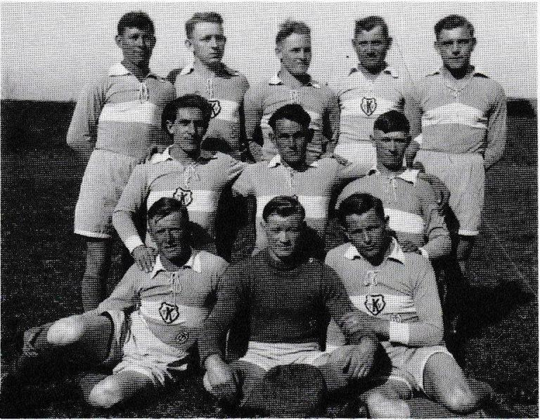 Die Handballer als Bezirksmeister im lahr 1936