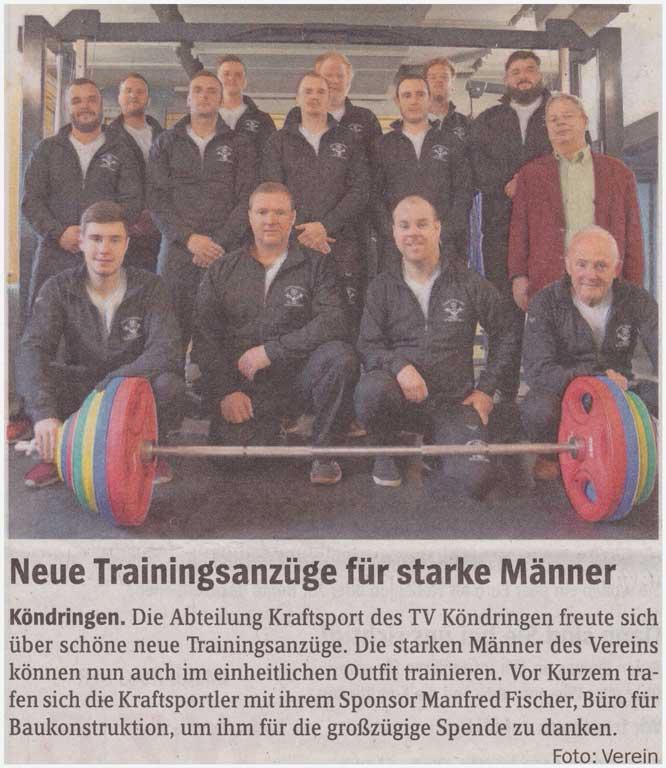 Neue Trainingsanzüge für starke Männer