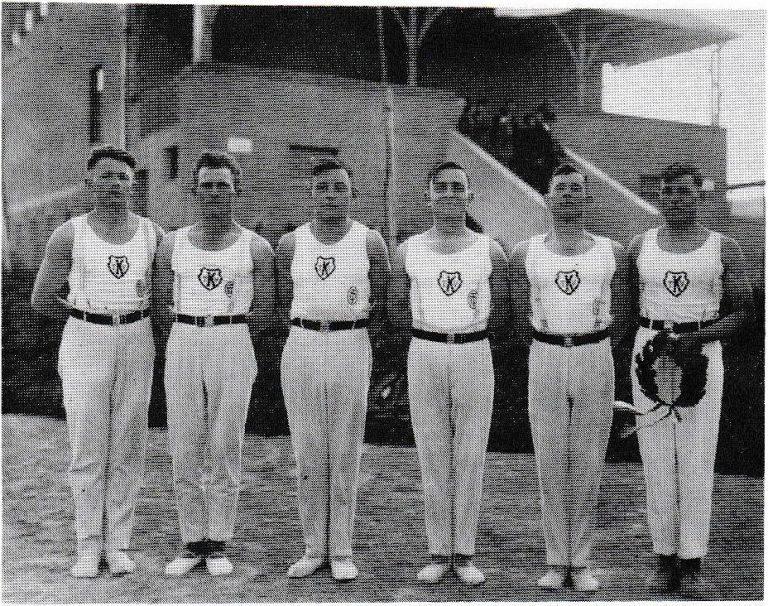 Die 1. Turn-Mannschaft im Jahre 1934